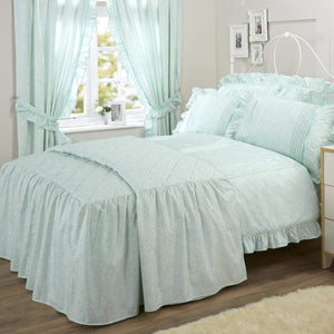 Vantona Country Monique Quilted Fitted Bedspread - Mint
