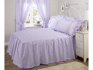 Vantona Country Monique Quilted Fitted Bedspread - Lilac