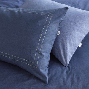 Vantona Easy Living Denim Duvet Cover Set - Blue