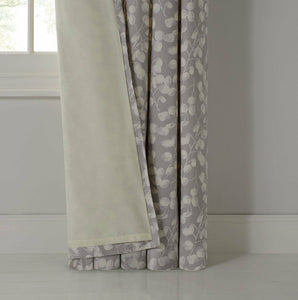 Honesty Lined Eyelet Curtains Stem and leaf design - (66x72 inches) 168x183cm