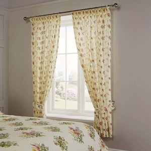 Vantona Country Nerissa Pencil Pleat Curtains and Tiebacks, Multi - 66 x 72
