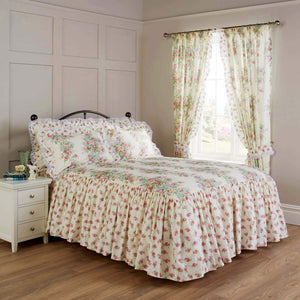 Vantona Country Spring Bouquet Quilted Fitted Bedspread - Multi