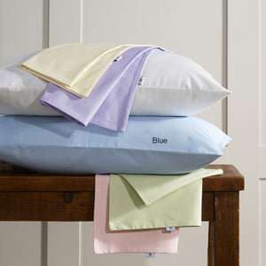 Vantona Plain Dye Pure Cotton Fitted Valance Sheet - Blue