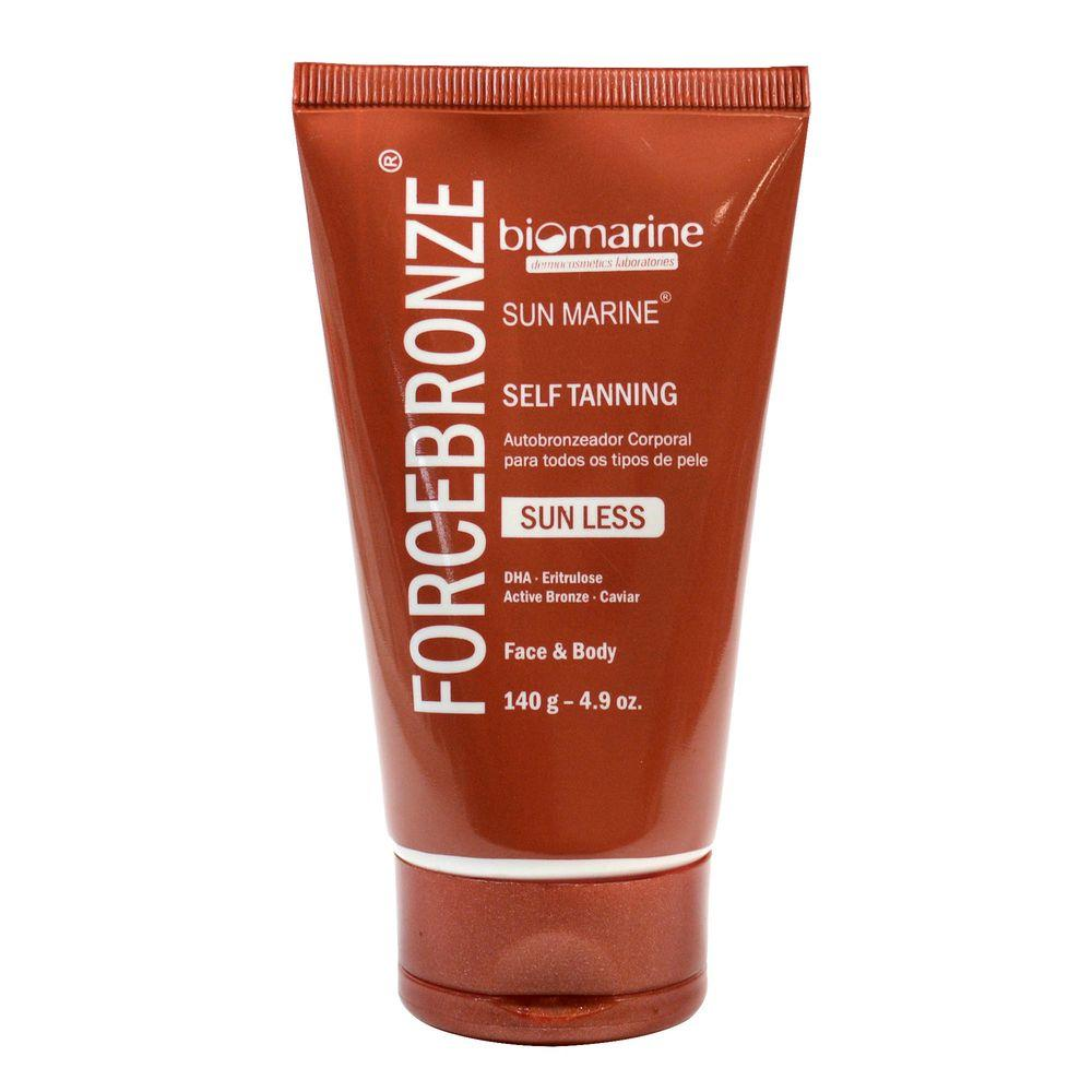 Autobronzeador Facial e Corporal Biomarine Force Bronze 140g Biomarine Men's Market
