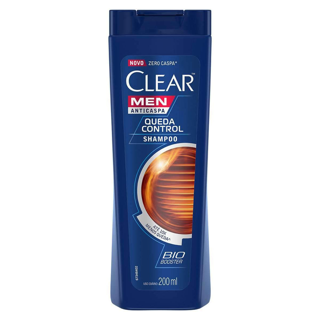 mens-market-brasil - Shampoo Clear Anti-caspa Queda Control Men 200ml - Clear