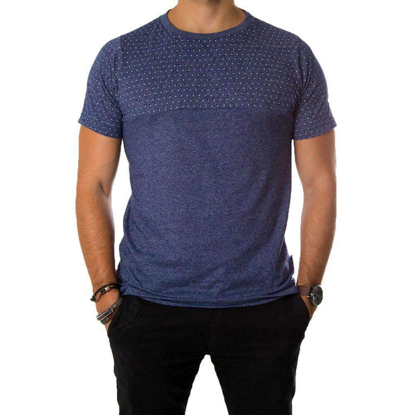 Camiseta Bolinhas Tortuga Co. Azul Mescla Tortuga Co. Men's Market