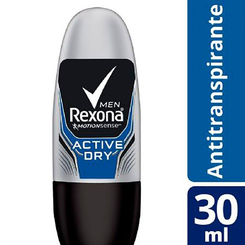 mens-market-brasil - Desodorante Roll On Rexona Active Dry 48h 30ml - Rexona