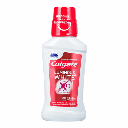 mens-market-brasil - Enxaguante Bucal Colgate Luminous White XD Shine 250ml - Colgate