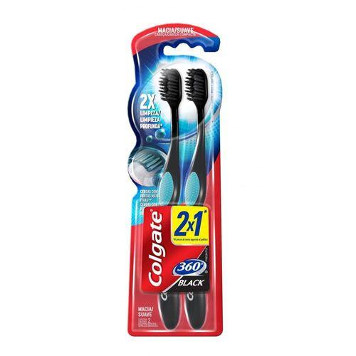 Escova Dental Colgate 360 Black 2Un Men's Market Men's Market
