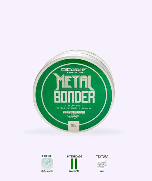 mens-market-brasil - Gel Metal Bonder Dicolore Barboterapia 100g - Dicolore Barber Shop