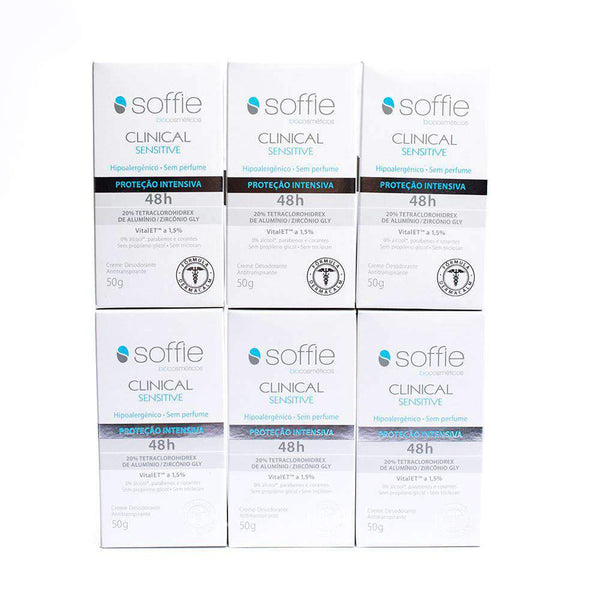 Kit Completo Desodorante Soffie Clinical Sensitive Soffie Men's Market