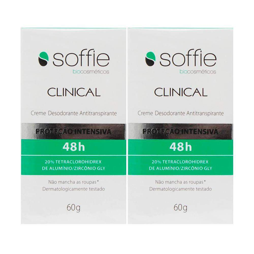 mens-market-brasil - Kit Desodorante Antitranspirante Soffie Clinical 60g - Soffie