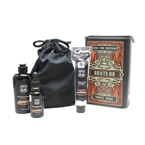 Kit Lata Shampoo, Balm e Óleo de Barba Viking Route 66 Origins Viking Men's Market