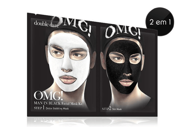 mens-market-brasil - Kit Máscara Facial OMG! Man In Black - OMG !