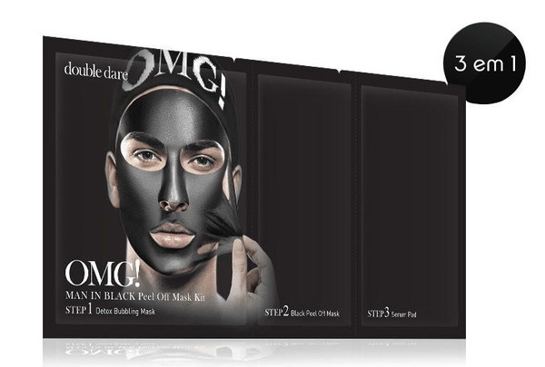 mens-market-brasil - Kit Máscara Peel Off OMG! Man In Black - OMG !