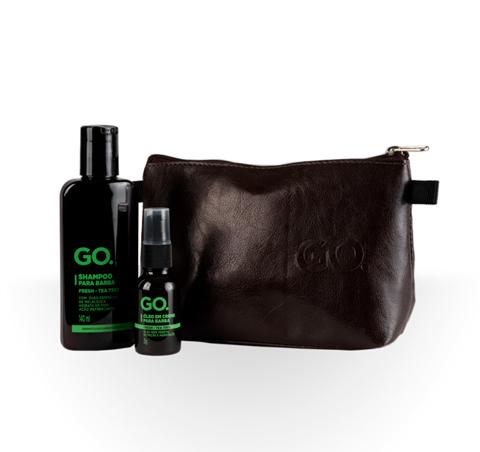 Kit Necessaire + Shampoo e Óleo para Barba Go. Tea Tree Go. Men's Market