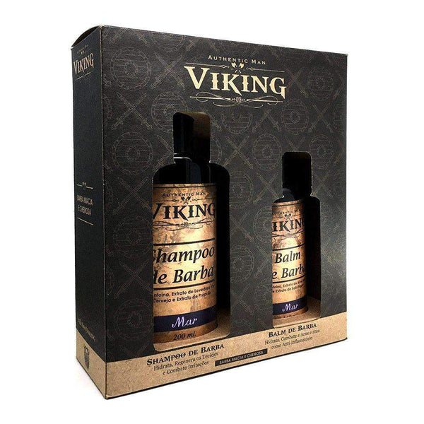 Kit Shampoo e Balm Viking Mar Viking Men's Market