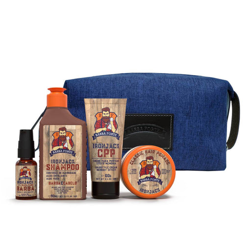 Kit Viagem Barba Forte Ironjack Barba Forte Men's Market