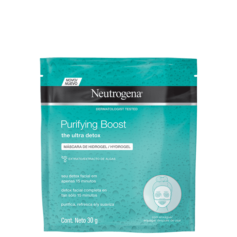 Máscara Neutrogena Purifying Boost 30ml Neutrogena Men's Market