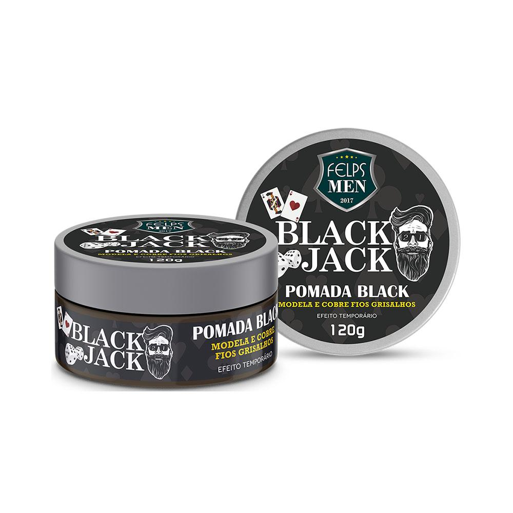 Pomada Black Felps Men Black Jack 120g Men's Market Men's Market