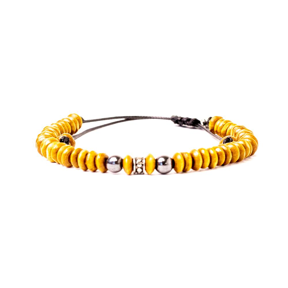 Pulseira Malmo Yellow Wood Malmo Men's Market