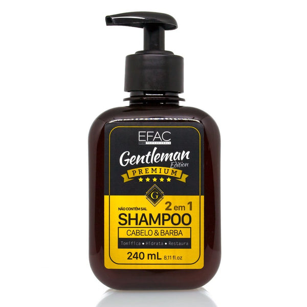 Shampoo 2 em 1 Efac Gentleman Edition 240ml Efac Men's Market