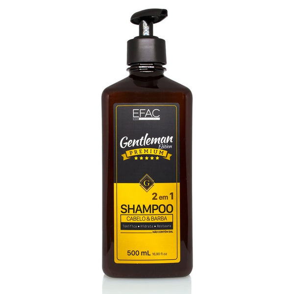 Shampoo 2 em 1 Efac Gentleman Edition 500ml Efac Men's Market