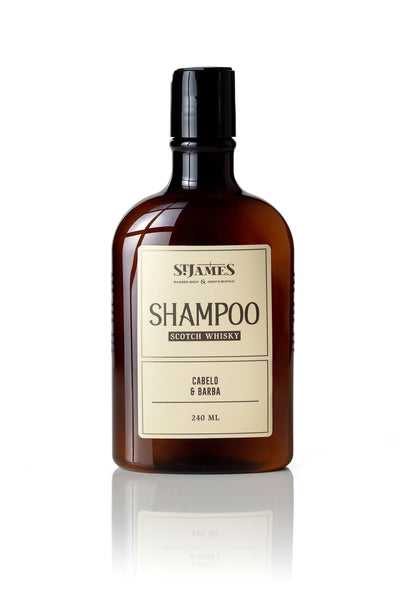 Shampoo Cabelo e Barba Whisky St James 240ml St James Men's Market