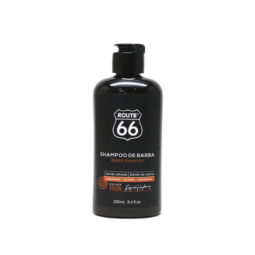 Shampoo de Barba Viking Route 66 Carvão Ativado 250ml Viking Men's Market