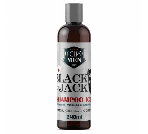 Shampoo Ice Felps Men Black Jack 240ml Men's Market Men's Market
