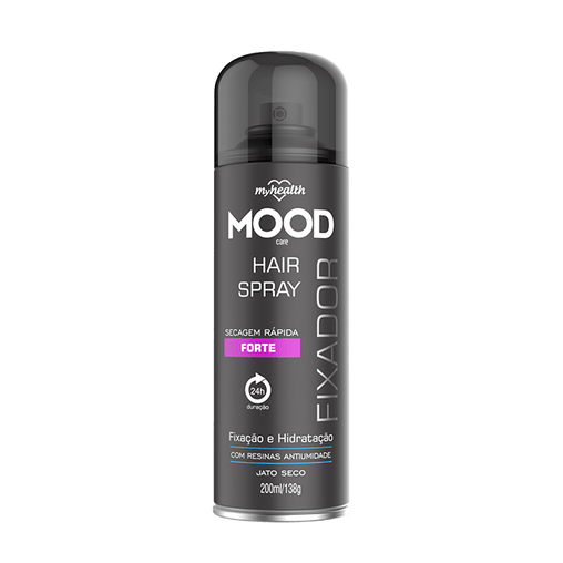 Spray Fixador Aerosol My Health Forte Mood 200ml My Health Men's Market