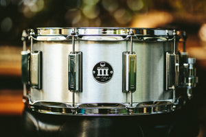 Silver Sparkle WFLIII Snare Drum with Chrome Lugs