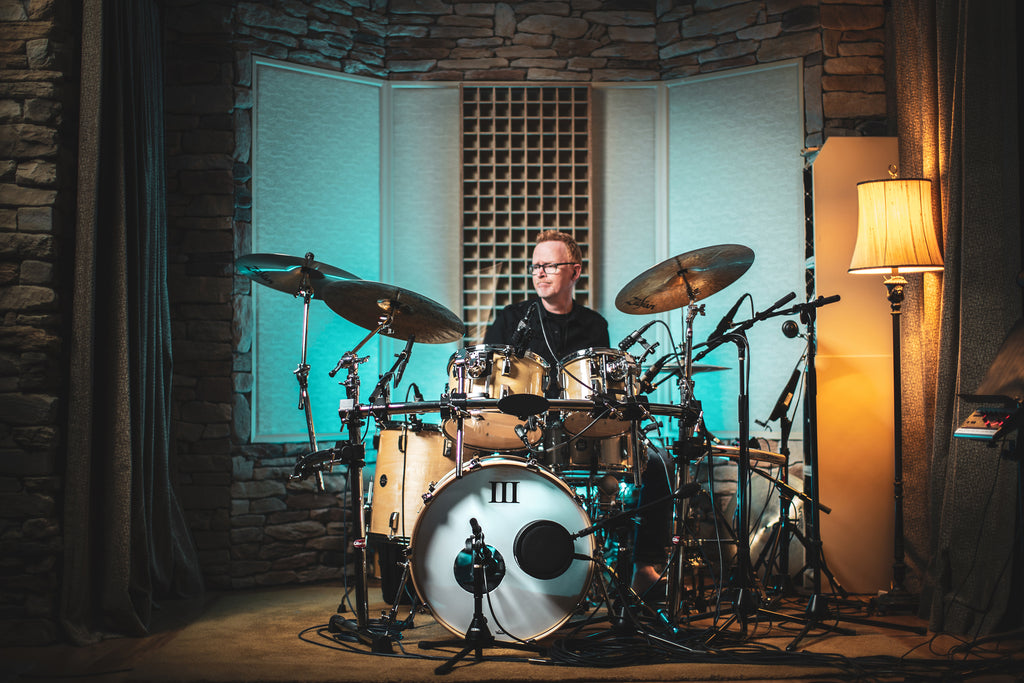 Scott Williamson with his WFLIII Drums