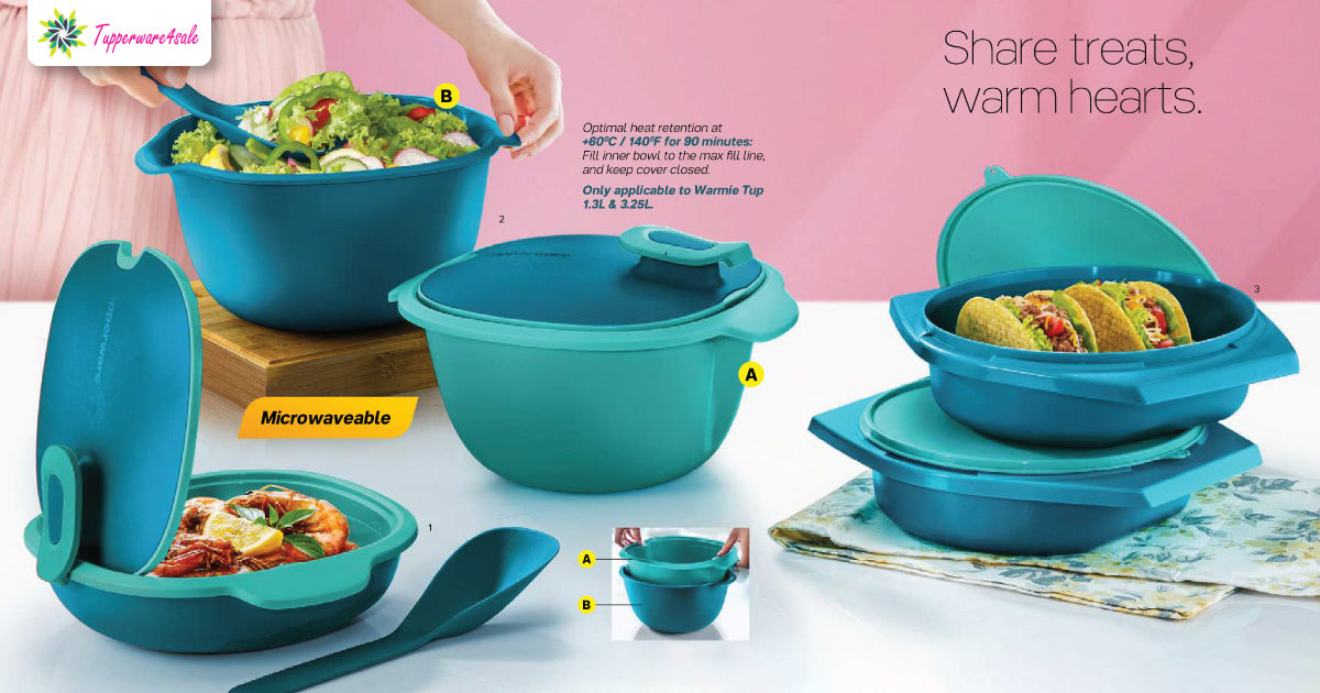 Tupperware Warmie Tup 1.3L with Serving Spoon