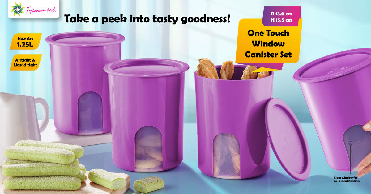 Tupperware Window Canister Set