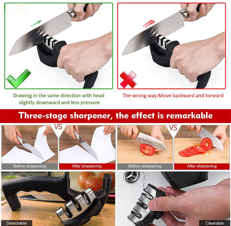 Professional Kitchen Knife Sharpener (with replacement)