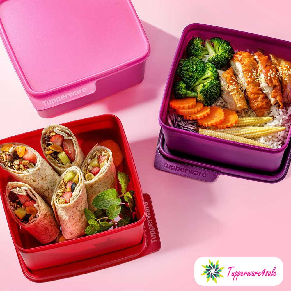Tupperware Snack & Stack Lunch Box - 2.5L