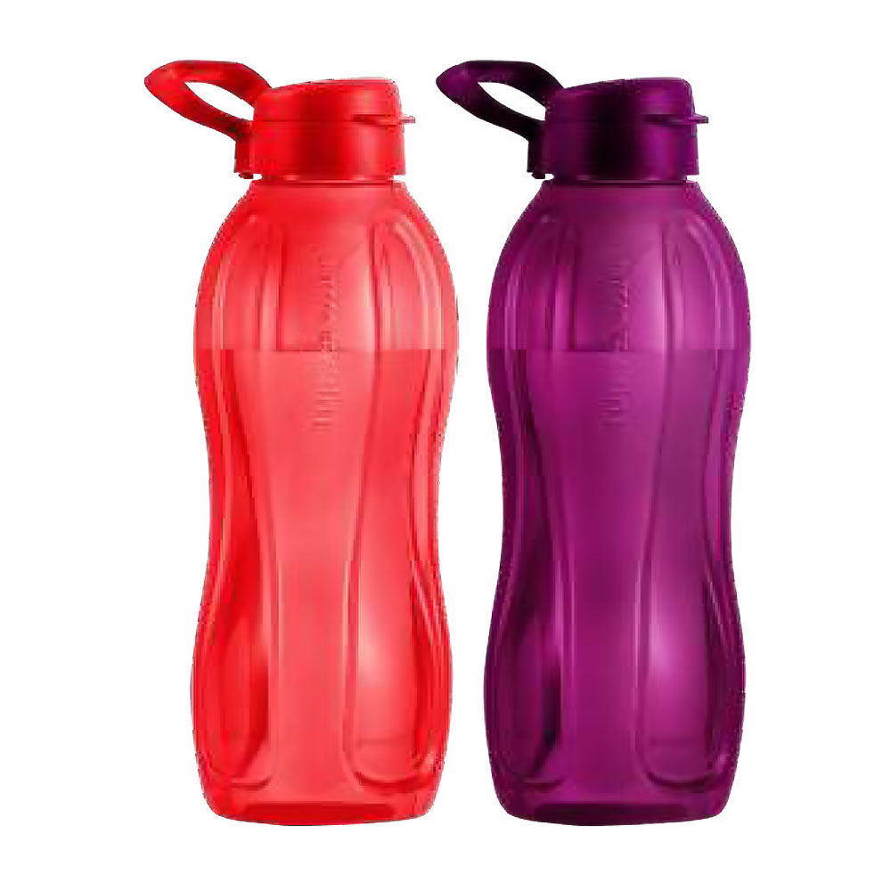 Tupperware Eco Drinking Bottles 1.5L Flip Top (Red & Purple) With Handle