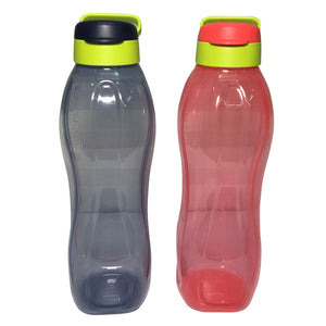 Tupperware Eco Drinking Bottles 1.5L (Black & Pink)