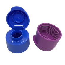 Load image into Gallery viewer, Tupperware Eco Drinking Bottles 1L Flip Top (Violet & Blue)