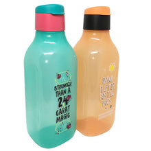 Load image into Gallery viewer, Tupperware Stay Positive Eco Drinking Bottles (Orange/Blue)