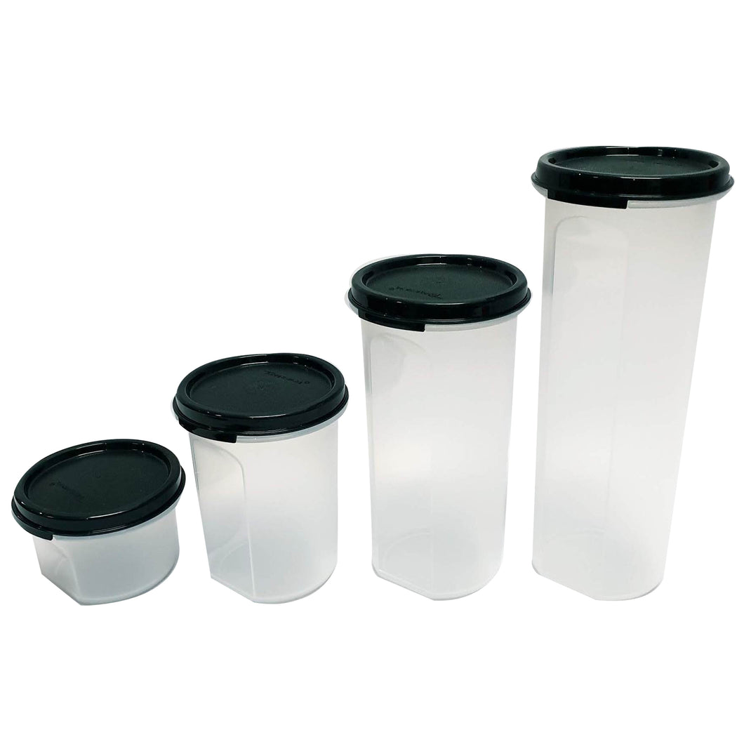 Tupperware Modular Mates Black Round Set-Tupperware 4 Sale
