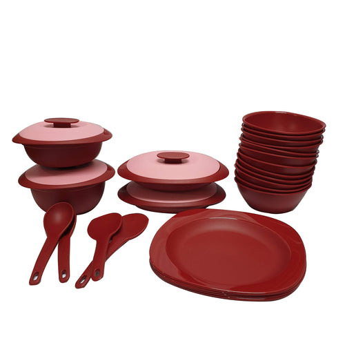 Tupperware Royal Red Serving Set