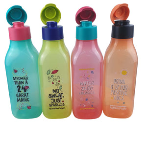 Tupperware Absolute Positivity Eco Drinking Bottles Set With Freebie