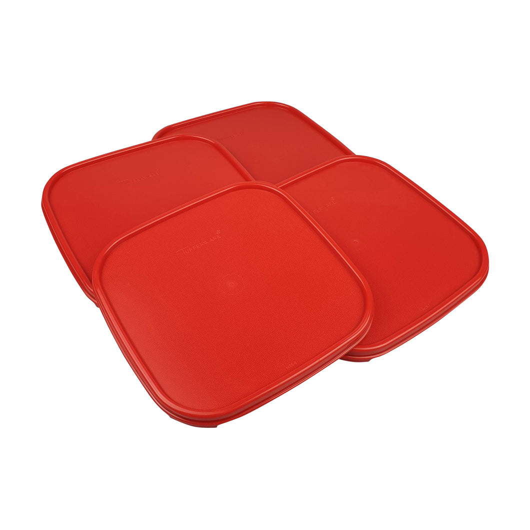 Tupperware Modular Mates Red Square Replacement Lids