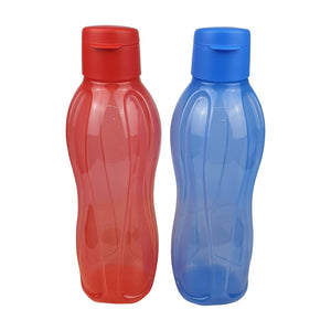Tupperware Eco Drinking Bottles 1L (Red & Blue) With Freebies