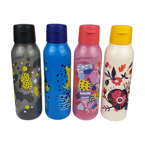 Tupperware Cool N Chic Eco Drinking Bottles With Brush