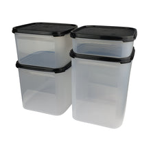 Load image into Gallery viewer, Tupperware Modular Mates Black Square Set With Freebies