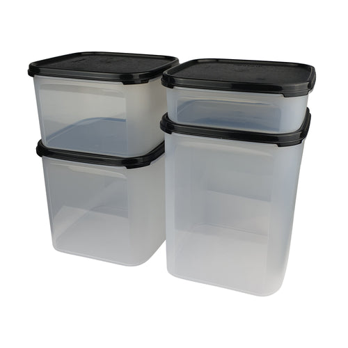 Tupperware Modular Mates Black Square Set With Freebies
