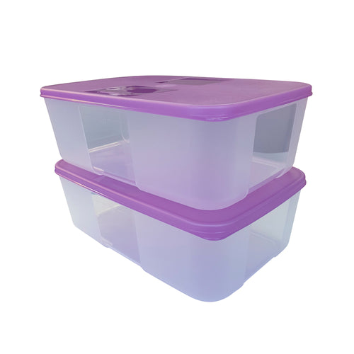 Tupperware FreezerMate Medium II Set of 2 - Violet